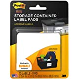 Post-it Storage Container Labels, 2-3/4 x 3-1/2 Inches, White,10 sheets/Pack (2800-SC)