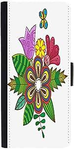 Snoogg Floral Background Designer Protective Flip Case Cover For Samsung Gala...