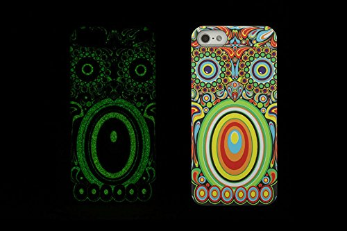(Case for Iphone 5/5S) Bon Venu Night-luminous products New Arrival Creative Luxury Life Of a King Animal Elephant Tiger Lion Cat Wolf Hard Case for Apple iPhone 5S & iPhone 5 case +Screen Protector (Pattern 8)