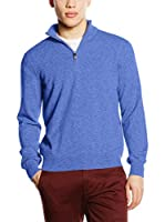 Piacenza cashmere Jersey (Azul)