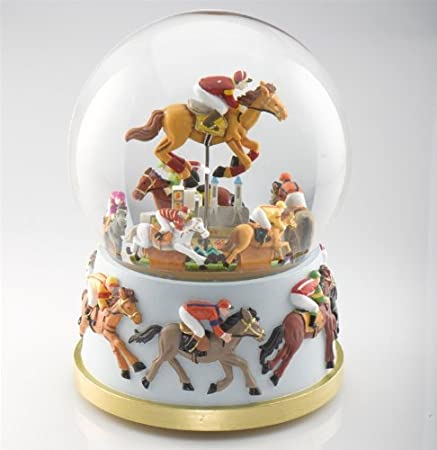Musical Horse Racing Snow Globe