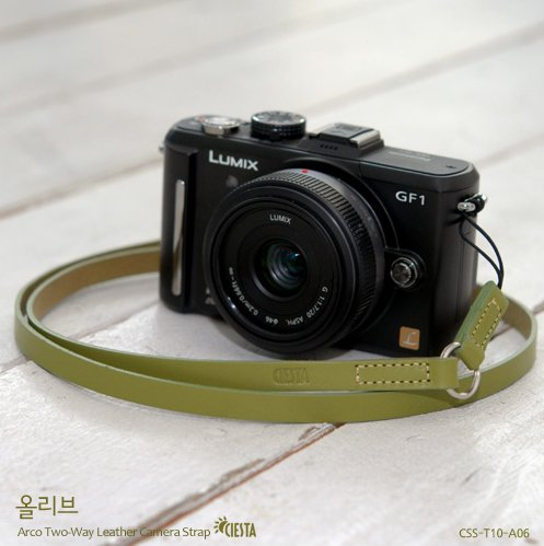 Ciesta CSST10A06 Leather Camera Strap Arco TwoWay (Olive) for Toy Camera DSLR Mirrorless RF Camera Leica Picture