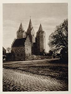 1924 Kalundborg Church Vor Frue Kirke Towers Denmark - Original Photogravure