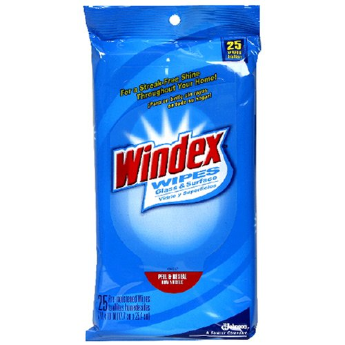 Windex Glass And Surface Wipes - 25 eaB0000DIWOC