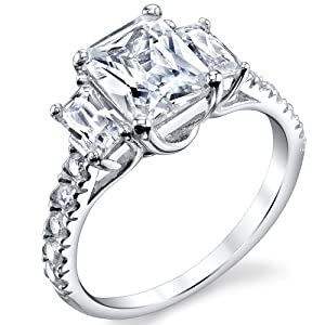 High Quality Cubic Zirconia Wedding Rings 69 Amazing Radiant cut cubic zirconia