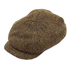 8 Piece Tweed Cap Brown Herringbone Limited Edition