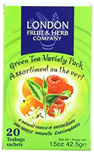 London Fruit & Herb Company Green Tea Variety Pack, 20 Tea Bags