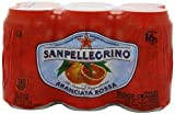 San Pellegrino Sparkling Fruit Beverages, Aranciata Rossa/Blood Orange 11.15-ounce cans (Pack of 24)