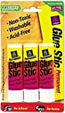 Avery Dennison 00164 Clear Application Permanent Glue Stic .26 Oz Stick 3/pk