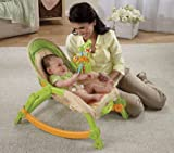 Fisher-Price Newborn-To-Toddler Low-Profile Position Comfy Portable Rocker W/ Soothing Vibrations