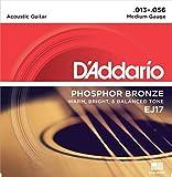 D'Addario EJ17 Saitensatz für Akustik-Gitarren, Phosphor Bronze 0,033 cm - 0,14 cm (.013 - .056 Zoll)
