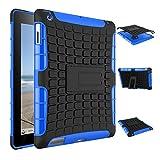 【Stonfecn】iPad2 iPad3 iPad4 専用 保護ケース スタンド仕様 PC+TPU スマートケース カバー【選べる8色】(ブルー)