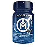 Modern Man PM, Premium Night Time Fat Burner & Sleep/Relaxation Formula, Stress Relief (Clear Mind) & Stimulant Free Fat Loss for Enhanced Sleep Quality, Better Physique and Recovery, 60 Capsules