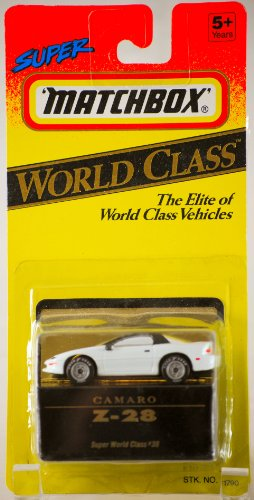 1993 - Tyco Toys Inc - Super Matchbox - World Class #38 - Camaro Z-28 - White - 1:64 Scale Die Cast - MOC - Out of Production - Limited Edition - Collectible