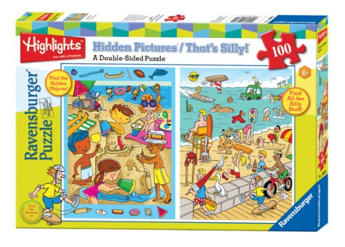 51xCxp97EVL Reviews Ravensburger Highlights: At The Beach   100 Pieces Double Sided Puzzle