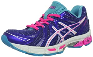 ASICS Women's GEL-Exalt Running Shoe,Electric Blue/White/Hot Pink,8.5 M US