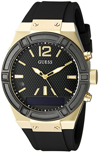 GUESS-Womens-C0002M3-GUESS-CONNECT-Chic-Fashionable-Black-Smartwatch-Where-Fashion-Meets-Lifestyle-Functionality