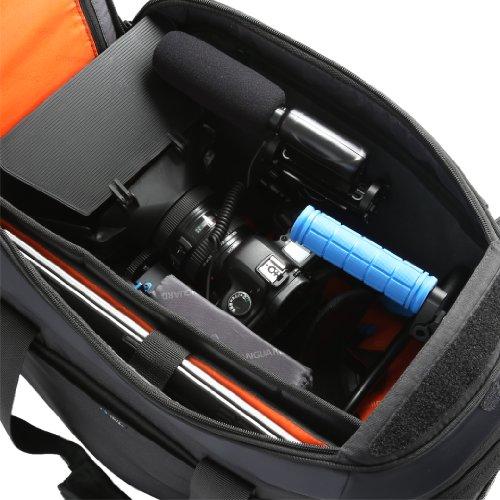 VANGUARD ショルダーバッグ Quovio 48 デジタルHDビデオカメラまたはバッテリーグリップ/一眼レフ/300mmレンズ装着+交換レンズ+機材類対応+ノートPC+三脚 ブラック