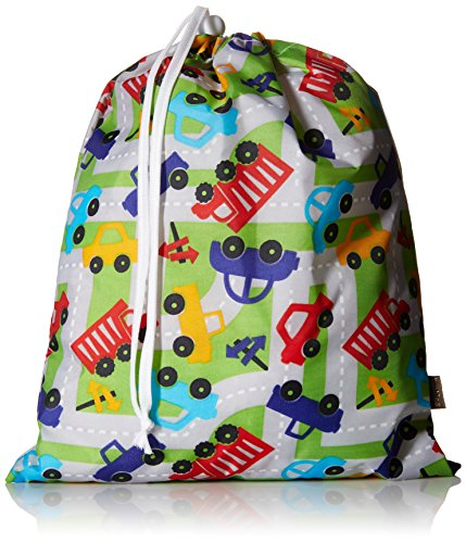 "Kushies ""On The Go"" Wet Bag with Pacifier Pouch, Boy Print"