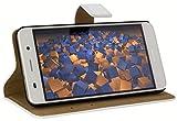 mumbi Ledertasche im Bookstyle für Huawei Y6 Tasche weiss
