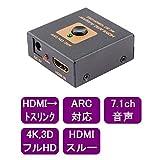 HDMI デジタルARC 対応オーディオ分離器 トスリンク出力【aTVARC-Tos】