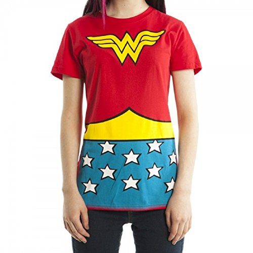DC Wonder Woman Ladies Juniors Red Suit Up T-Shirt