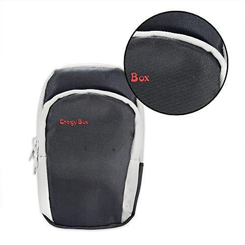 Fascia di braccio sacchetto esterno Sporting portare il cellulare in esecuzione Trekking escursionismo escursioni in bicicletta Montaggio vestito Strolling Armband per iphone 6 plus size black-L