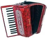 Scarlatti 24 Bass Accordion - Red