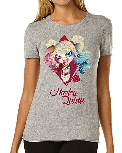 Suicide Squad Harley Quinn Minimalistic Portrait Funny maglietta da donna Large