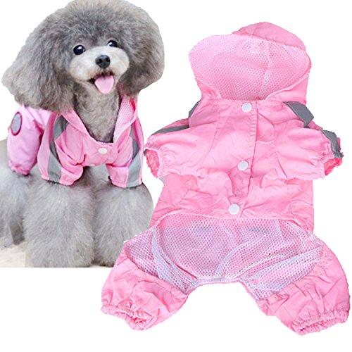 Haustier Hund wasserdichtes Polyester Regen Slicker Regenmantel Haustier Stoff Kleidung Welpe