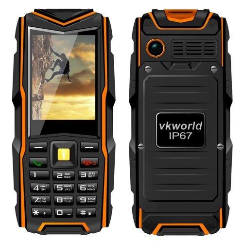 VKWorld Stone V3 Mobile Phone, 5200mAh batteria, Waterproof / Dropproof / Dustproof, 2.4 pollici Dual SIM, Rete: 2G(Orange)