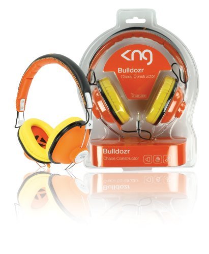 KNG Bulldozr Chaos Constructor Designer Headphones - Orange