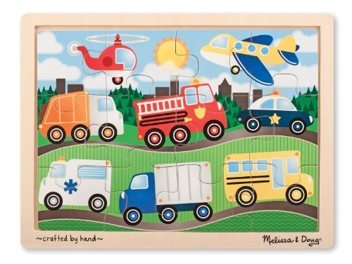 Melissa & Doug On The Road Jigsaw Puzzle (12-Piece) - 1