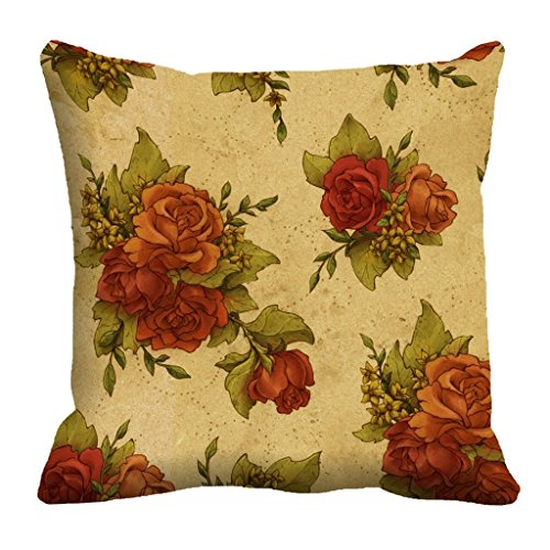 meSleep Rose Digitally Printed Cushion Cover (16x16)