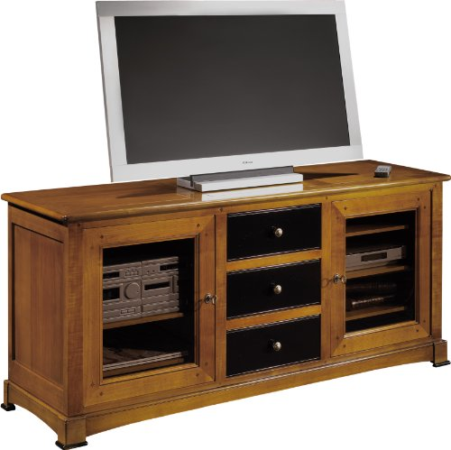 meuble tv hifi merisier pas cher. Black Bedroom Furniture Sets. Home Design Ideas