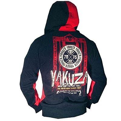 Yakuza ORIGINAL Kapuzenjacke - HZB 528 schwarz / rot BRANDNEU S-3XL