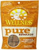 Wellness Pure Rewards Natural Grain Free Dog Treats Made in USA Only, Venison & Salmon Jerky, 6-Ounce Bag