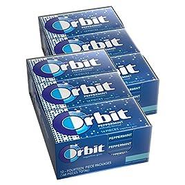 Orbit Peppermint Sugarfree Gum, 14 Count (Pack of 24)