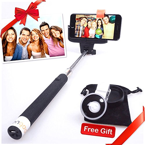 Selfie Stick, free len,Kengadget monopod with adjustable holder, Plus android phone, built-in Bluetooth
