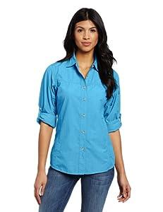 Exofficio Women's Bugs Away Baja Long Sleeve Shirt, Mediterranean, X-Small