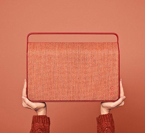 Vifa Copenhagen Hi-Resolution Bluetooth WiFi Wireless Portable Speaker - Sunset Red