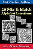 Download 26 Mix & Match Alphabet Insertions Filet Crochet Pattern: Complete Instructions and Chart