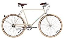 Papillionaire Classic 3 Speed Vintage City Bike, Cream, 20.5-Inch/One Size