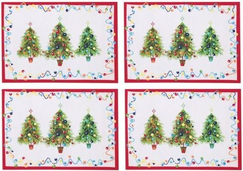 Christmas Tree Fabric Placemats