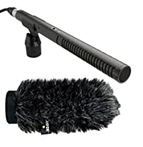 Rode NTG2 Multi-Powered Condenser Shotgun Microphone Videographer Pro Audio Kit+ Rode WS6 Deluxe Wind Shield