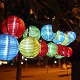 Beleuchtung - InnooTech 20er LED Solar Lichterkette Lampions Garten Aussen Innen 3,3 Meter Bunt