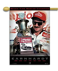 NASCAR Dale Earnhardt Champ #3 2-Sided 28-by-40-Inch Banner with Pole Sleeve by BSI