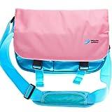 UltimateAddons Satchel Style Messenger School Bag suitable for holding Apple iPad Mini / Mini 2 Retina (Pink)