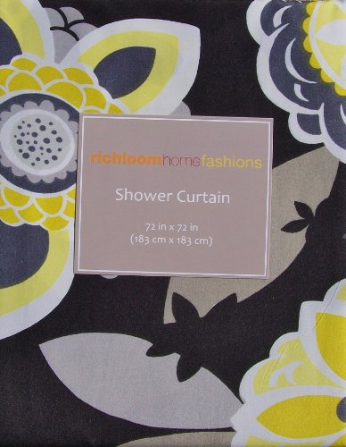 Richloom Home Fashions Annie Floral Fabric Shower Curtain