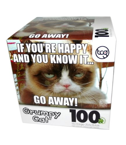 Grumpy Cat If You're Happy Puzzle-100 pcs